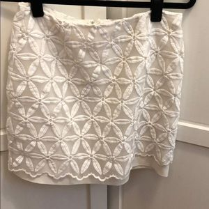 JOA white mini skirt